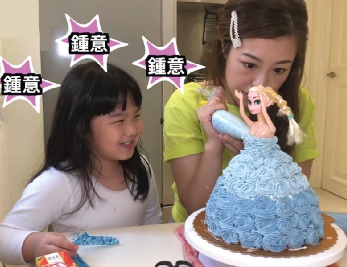 媽媽親手做公主蛋糕 為女兒慶生