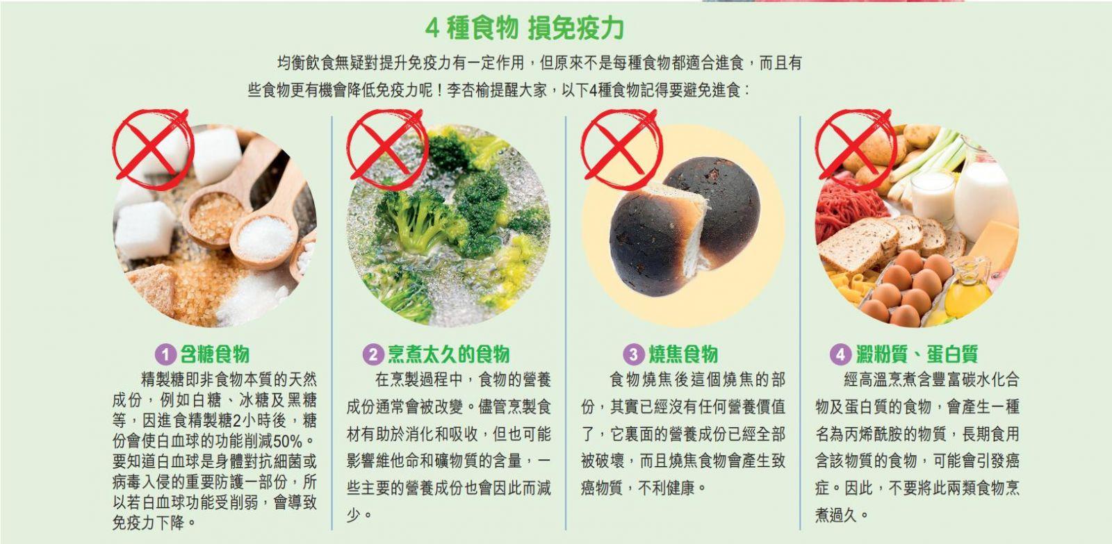 4種降低兒童免疫力食物